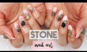 Real Stone Gel Nail Art   Nice France 2017 ♡