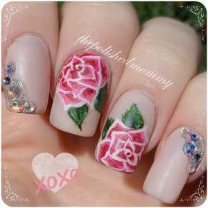 I hope everyone has a great Valentine's Day! http://www.thepolishedmommy.com/2014/02/roses-and-diamonds-for-valentines.html  Roses inspired by  Pinkflyingcow  #nailart #nailartsociety #fingerpaints #sallybeauty #nailartfeb #floral #valentines #vday