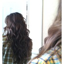 curled with the wand ;)