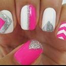 Pink nails(: