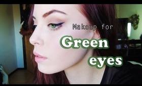 Beige & Plum Makeup for Green eyes