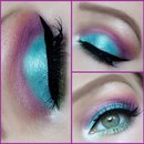 Teal/purple/lime look