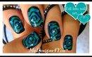 Hypnotic Swirl Halloween Nails | Spiral Nail Art ♥