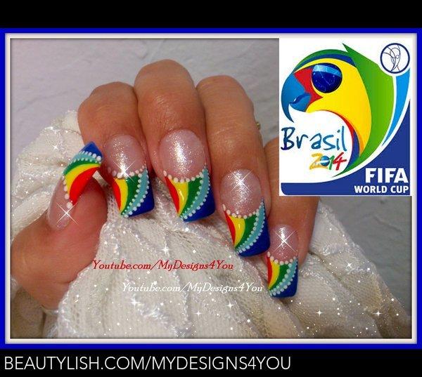 fifa world cup nail art summer 2014 brazil liudmila z s