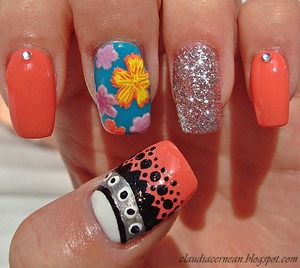 Tutorial on : http://claudiacernean.blogspot.ro/2013/03/unghii-cu-floricele-flower-nails.html