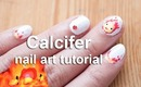 Calcifer nail art tutorial | Howl's Moving Castle