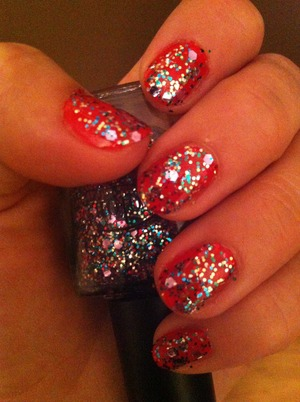 Color club wish upon a rock star Over gosh hot coral.