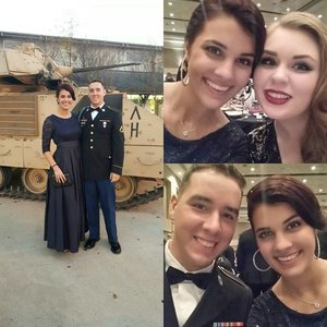 Evening of fun with loving husband and friends to honor those who serve <3