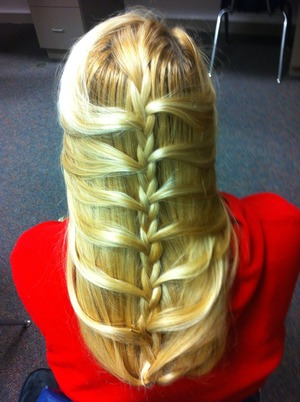 Mermaid style French braid.<3