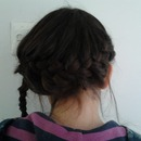 Side on french plait X