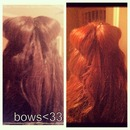 half up half down bow!