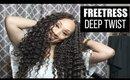 FreeTress Deep Twist Hair: Crochet Hairstyle