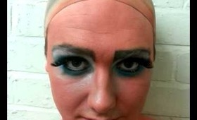 Theatrical Dame Make up.....behind the scenes!