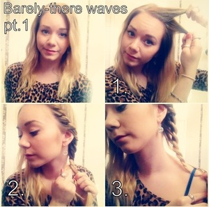 Easy barely-there waves with just a little heat. Instructions in the comment box :) (Check out the other part of the tutorial aswell!)