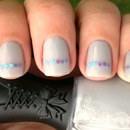 Jelly Grey and Gleequin Nails