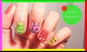 Cute Monsters Collab with MysticNails ● IT'S MY BIRTHDAY TODAY ●
