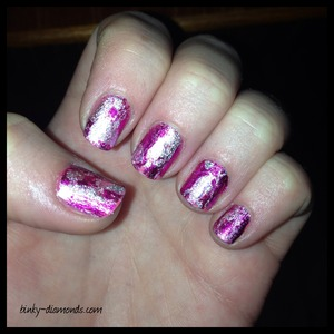 Ciate Very Colourfoil Manicure set; using foil sheets which transfer to the nail.