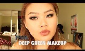 Prom: Deep Green Makeup | chloeanneyoung