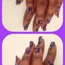 purple blossom nail