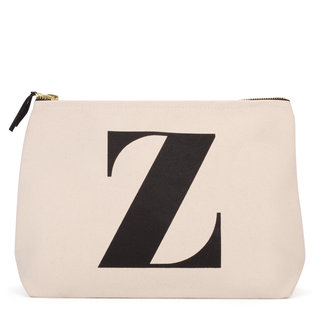 Natural Wash Bag Letter Z