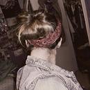 Vintage updo w/ bandana