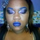Purple Sokey Eyes With Blue Brows