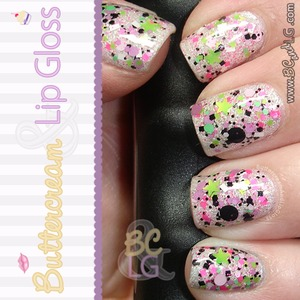 The colors of this mani brought me back to the 80's. Full of glitter & neon. :D  http://www.buttercreamandlipgloss.com/2013/06/barbie-girl-by-laquerlicious.html