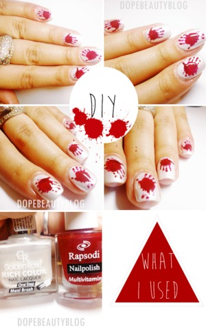 Bloody Hands on my nails Enjoy! <3
