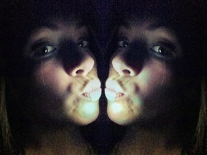 bright blush and a nude lip <3