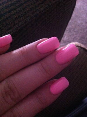 Never feel as girly as when I have my baby pink nails!