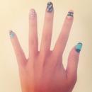 Pretty Pastel Geometric Nails