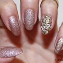 Sand Polish and Accent Nail