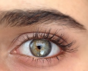 If you put a tiny bit of copper eyeliner in the waterline it can make green eyes pop