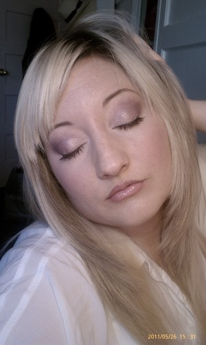 I love playing with purple to compliment the green in my eyes. This is just a pretty, soft, day look.