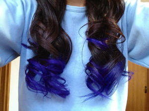 I DID BY MYSELF AT HOMEEE. I LOOOVE THIS COLOR!!