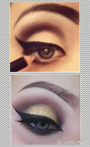 My makeup progress (and photo taking progress) in three years. X