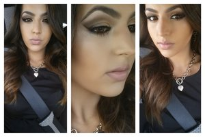 ✨Smokey eye kind of look with a little bit of a gold in the inner corner ✨ bronze goddess