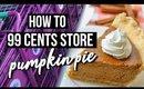 VLOG: How To Make a 99 cent Pumpkin Pie | SCCASTANEDA