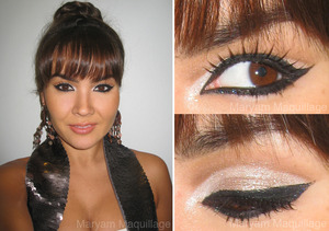 NYE eye makeup idea  http://www.maryammaquillage.com/2011/12/ball-droppin-new-years-makeup.html