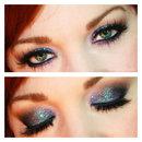 Statement Eyes: Purple Glitter