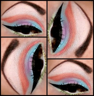 Spring look using pastel mattes from Lunatick cosmetics lab llc