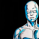 Closeup Silver Surfer Body Paint