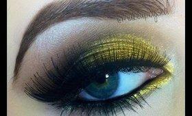 Gold Smokey eye tutorial
