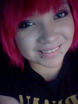 Dyed my hair hot pink for HS graduation♥ i sure stood out.
