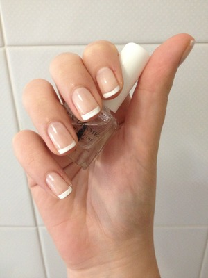 Pink and white, soft french manicure