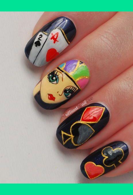 Poker Face Nail Art Brilliantnail F S Photo Beautylish