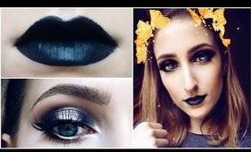 Black Lips + Halo Eyes ♡ Full Face Makeup Tutorial