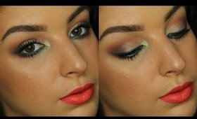 Teal Liner & Orange Lips | Makeup Tutorial ♥