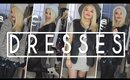 HOW TO STYLE DRESSES FOR WINTER | WINTER OUTFITS