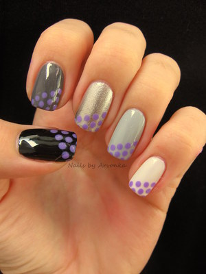 FOR MORE PHOTOS CLICK HERE: http://arvonka-nails.blogspot.sk/2012/10/bodkovane-ombre.html